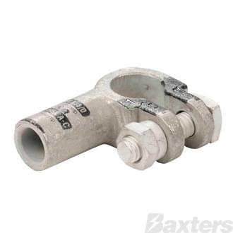 Crimp Battery Terminals (Cast Copper & Heavy Duty) 00 B&S Elbow Negative