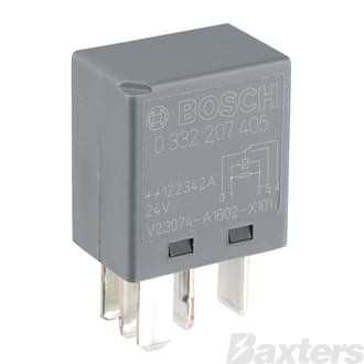 Relay Micro Bosch 24V 10/5A C/O 5 Pin Resistor Protected