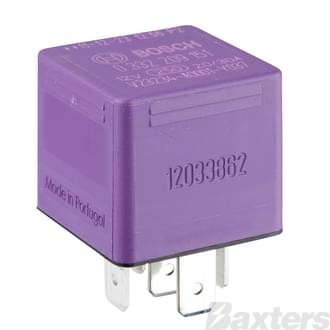 Relay Mini Bosch 12V 30/20A Change Over 5 Pin