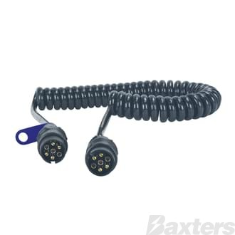 Suzi Coil with 2 Moulded Din Plugs Heavy Duty 6 x 1.5mm2 + 1 x 2.5mm2