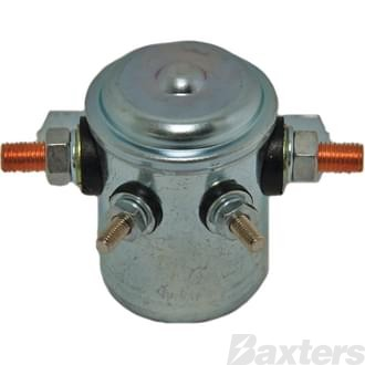 Solenoid Baxters 24V 80A Normally Open Continuous Duty Metal Side Mount
