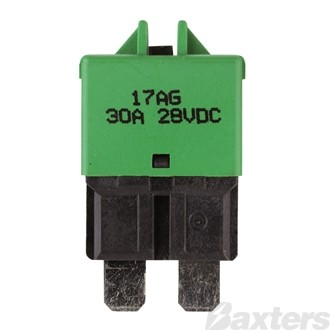 Circuit Breaker 12/24V 30A Manual Reset Low Profile Wedge Fuse Style Type 3