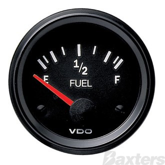 FUEL GAUGE 52MM VDO 12V 10-180OHM ILLUMINATED