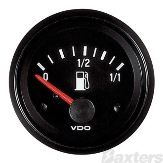 FUEL GAUGE 52MM VDO 12V 10-180 OHM ILLUMINATED