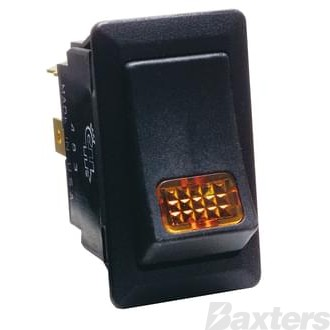Switch Rocker Cole Hersee 24V 12A ON/OFF Amber Indicator
