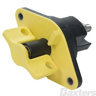 Battery Master Switch Kissling 500A Single Pole N/O Lockable Yellow Handle