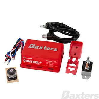 Baxters Control+ User Controlled Remote Head Electric Trailer Brake Controller 12V 1-2 Axles, Third Generation