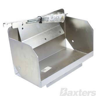 Battery Box Multi Fit Tub Mount C/W Hardware to Suit Nissan Navara D40 2005 - ON