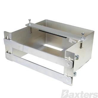 Battery Box Under Tray Mount Laser Cut 3mm Steel Zinc Coated 445[L] x 175[W] x 320[D]mm