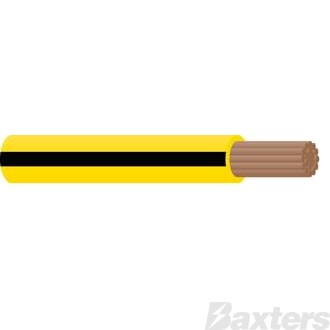 3mm Single Core with Tracer Cable - Yellow/Black 100m