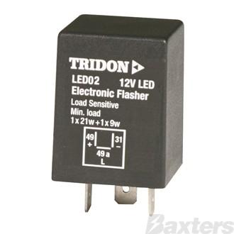 Flasher Can LED Tridon 12V 3 Pin Load Sensitive