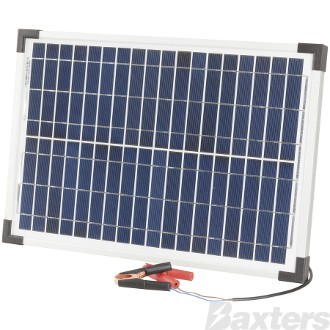 Solar Panel Battery Charger 12V 20W Includes Solar Regulator