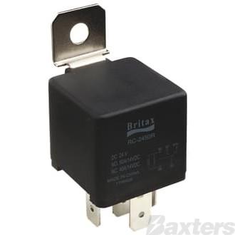 Relay Mini Britax 12V 40A Normally Open 5 Pin Resistor Protected