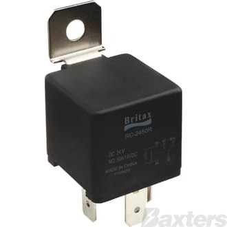 Relay Mini Britax 12V 40/40A Change Over 5 Pin Resistor Protected Terminals 86 & 30 Reversed