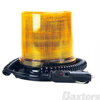 LED Beacon RB130 Series 10 - 36V Amber Magnetic Mount 30SMD LED's Watts Simulated Rotating