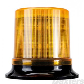 LED Beacon RB130 Series 10 - 36V Amber Fixed Mount 30SMD LED's Watts Simulated Rotating