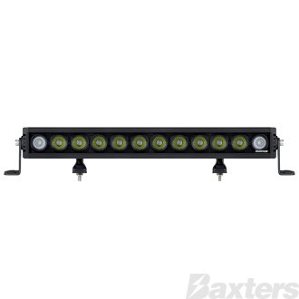 "LED Bar Light 20"" Rollar Series Combo Beam 10-30V 12 x 10W LEDs 120W 10800lm IP67 Slide & End Mount Roadvision"