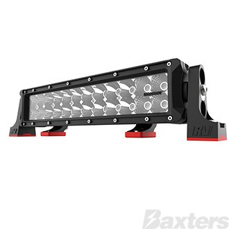 "LED Bar Light 14"" DC2 Series Combo Beam 10-30V 24 x 3W Osram High Lux LEDs 72W 6480lm IP67 Slide & End Mounts Roadvision Black Label"