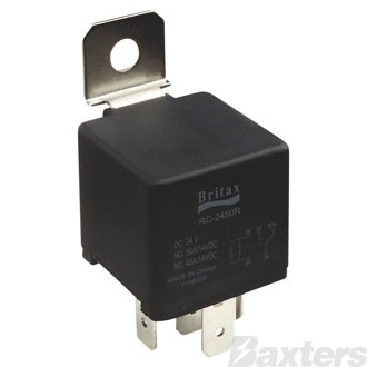 Relay Mini Britax 12V 40/30A Change Over 5 Pin Resistor Protected