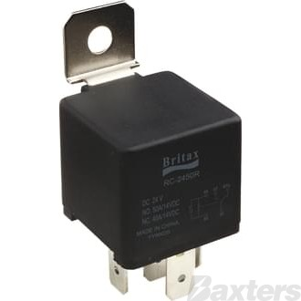 Relay Mini Britax 12V 40/40A Change Over 5 Pin Resistor Protected