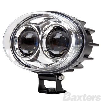 LED Forklift Safety Lamp Blue Spot 8 Deg Beam 9-48V 2 x 3W LED 800lm IP68 Black Housing