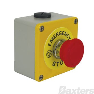 Emergency Stop Switch Push Button Latching Twist to Release Normally Open Contact Normally Closed Contact Metal Housing