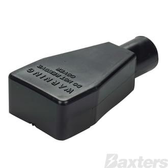 Battery Terminal & Lug Protectors Black 0 - 00 B&S Straight